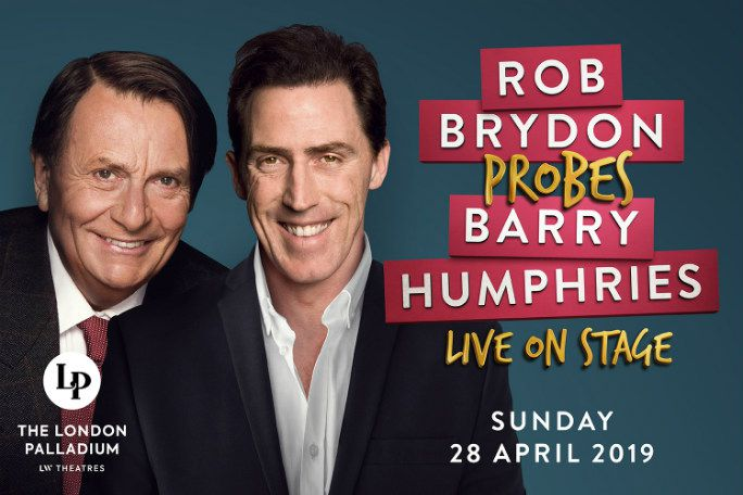 Rob Brydon probes Barry Humphries Tickets