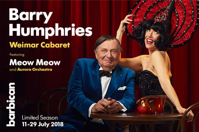 Barry Humphries Weimar Cabaret  Tickets